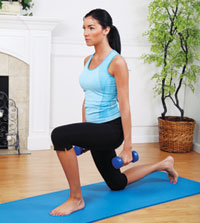 home-exercises-weight-woman-mat
