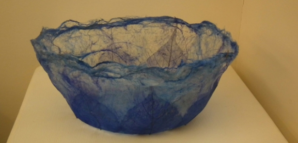 Silk Paper bowl with leaves