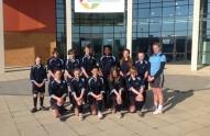 Ormiston Bushfield Academy's girls' rugby team