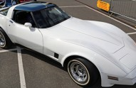Very bright, (nearly) all-white, 1981 Chevrolet Corvette was a crowd pleaser