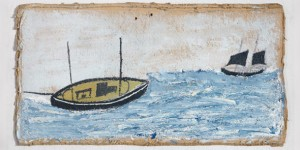 Two boats by Alfred Wallis. Courtesy of Kettle's Yard, Cambridge