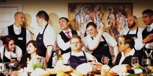 Lee Clarke, owner and head chef, and his team