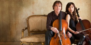 Julian and Jiaxin Lloyd Webber (from a photo by Simon Fowler)