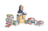 Roald Dahl's Matilda (illustrated by Quentin Blake), the little girl who loved to read