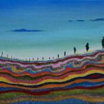 Strata landscape by Melina La Firenze