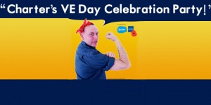 Martin Race, Charter's general manager, channels Rosie the Riveter...