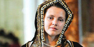 A re-enactor portrays Katharine of Aragon. Picture courtesy of Peterborough Cathedral