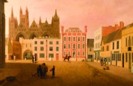 Cathedral Square, Peterborough, during the 1700s