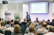 Mark Jackson from Rawlinsons addresses delegates at the sixth annual charity conference held at The Kingsgate Conference Centre